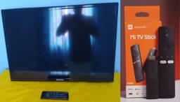 Tv Samsung 32 polegadas com o Mi Tv stick ela vira uma smart Tv