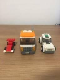 Lego polícia e caminhão de lixo