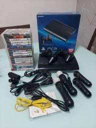 Título do anúncio: PS3 + 18 jogos + PS Move
