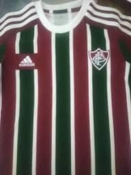 2 Camisas Infantil Fluminense Adidas oficial.Tam 8 anos