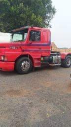 Scania 113 94 com carreta baú 28 p 14,6mt