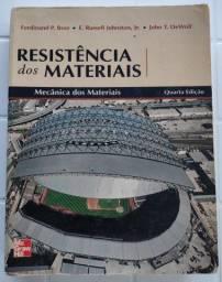 Livro Resistência/ Mecânica dos Materiais - Beer; Johnston 4° edição
