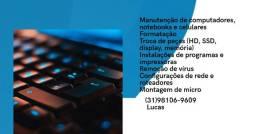 Manutenção e formatação de computadores e notebooks