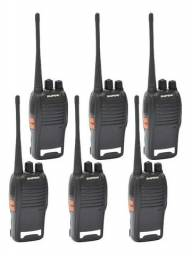 Lote Baofeng 6 Unidades de Rádios Comunicadores Walk Talk Bf-777s