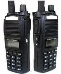Kit 2 Rádio Comunicador Baofeng Ht Dual Band Uv-82