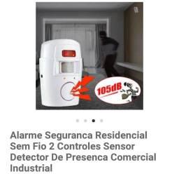 Alarme com sensor residencial