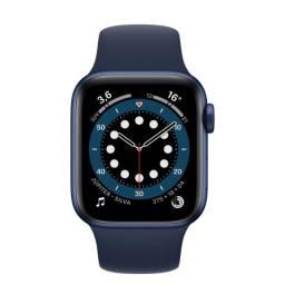 Apple Watch 6 44mm GPS (Space Gray/Blue) Novo - Caixa de Alumínio