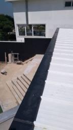 Calhas em alumínio e galvanizado