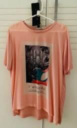 Camiseta Seda grife Animale, tam. M, c/ etiqueta, na caixa.