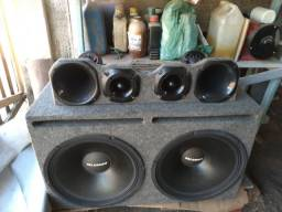 """Caixa de som alto falante de 15"""" completinha"""