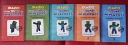 5 Livros Diário de um Zumbi - Minecraft