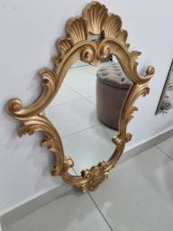 Espelho Grande Provençal Veneziano Dourado