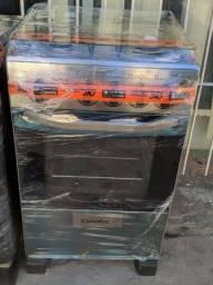 Fogão Esmaltec inox 4 bocas automático novo