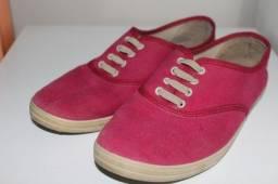 Sapato oxford rosa
