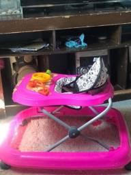 Andador bebê safari semi novo