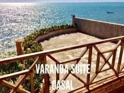 Deliciosa Casa à beira-mar da Ilha da Croa, Barra de Santo Antônio - Alagoas