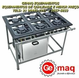 Fogão 6 Bocas como forno industrial !! Metalmaq !! M19 S2000 Pronta entrega!
