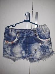 2 shorts jeans pelo preço de 1. tm.40 curto