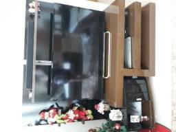 Rack para TV até 50 polegadas tabaco e preta em bom estado