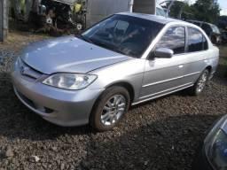 Sucata Honda Civic LX 115cvs Gasolina 2005 vendido em peças