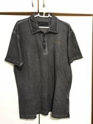 Camisa polo cinza Calvin Klein tamanho G (pouca usada)