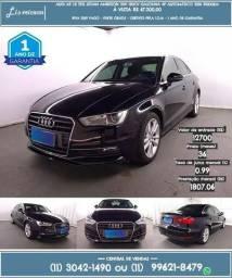 Preto Audi A3 1.8 Tfsi Sedan Ambition 20v gasolina 4p automático 2016 R$67.210-31.010km - 2016