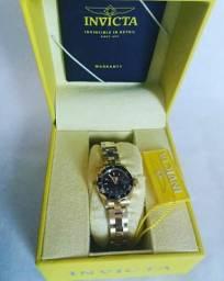 Promoção Relógio invicta feminino Ouro 18k