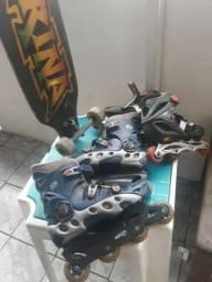 Vende 1 Skates Longboard 2 patins
