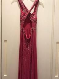 Vestido Festa Pink Importado Todo Bordado Nightway - Tamanho 38