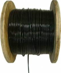Cabo de aço para academia, revestido PVC preto, 6x19 fios de aço galvanizado