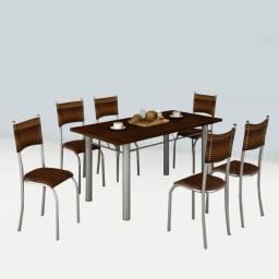 Conjunto de Mesa Valença C/6 Cadeiras