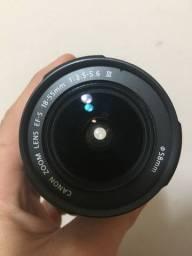 Lente Cannon 18-55mm/ com a tampa da lente