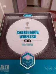 Carregador wireless novo, na caixa