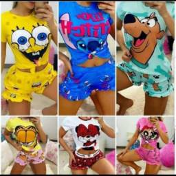 Lote de pijamas ponta de estoque