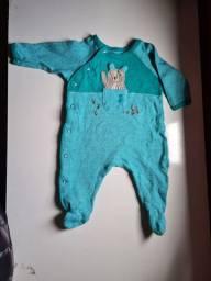 Macacão Bebê Menino Tip Top Recém  Nascido