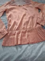 Blusa de seda semi-nova
