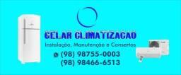 Gelar climatização instalação e manutenção de ar condicionado geladeira máquina de lavar
