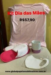 Kit cesta para o Dia das Mães com produtos para personalização