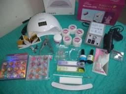 Kits completo de unhas em gel / enfeites / materiais