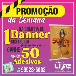 Banners - Panfletos - Adesivos - Cartão de Visitas