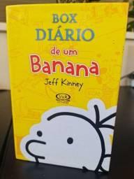 Box diário de um banana + 3 livros da coleção