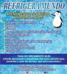 Conserto e manutenção de geladeira ar condicionado