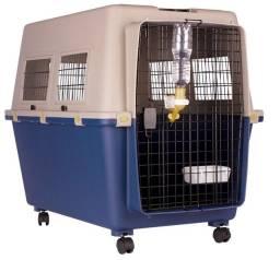 Caixa GRANDE de Transporte Pet Avião Dog Fly modelo IATA Tamanho 7 N7 + Bebedouro