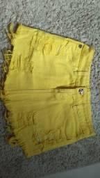 Saia jeans amarelo