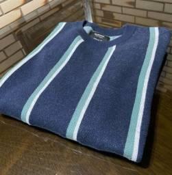 Suéter Listrado Azul Marinho