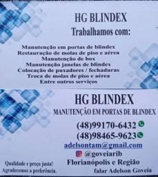 Manutenção em porta blindex em geral