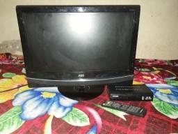Televisão (tv) de 16 polegadas com Dvd