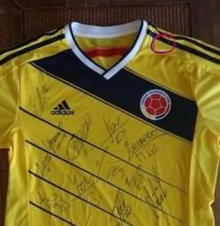 Camisa seleção da Colombia 2014 autografada por todos jogadores