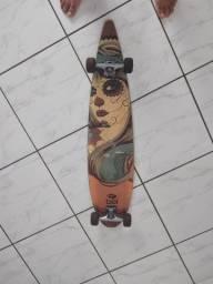 Long board com rolamentos novos