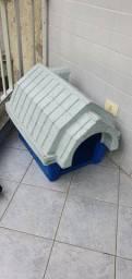 Casinha Cachorro Pet Clicknew Chaminé Azul com Mármore - 03